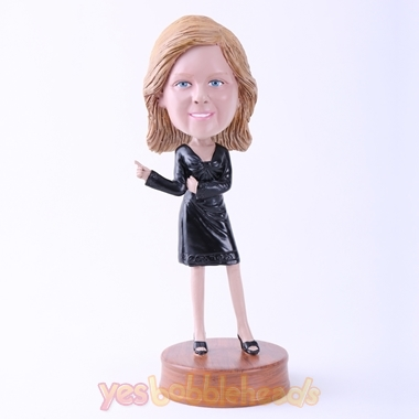 Picture of Custom Bobblehead Doll: Black Dress Lady
