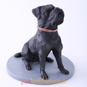 Picture of Custom Bobblehead Doll: Black Pet Dog Sharpei