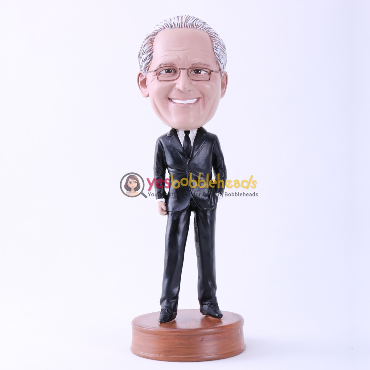 Picture of Custom Bobblehead Doll: Black Suit Boss