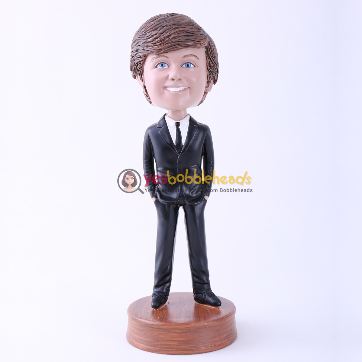Picture of Custom Bobblehead Doll: Black Suit Boy