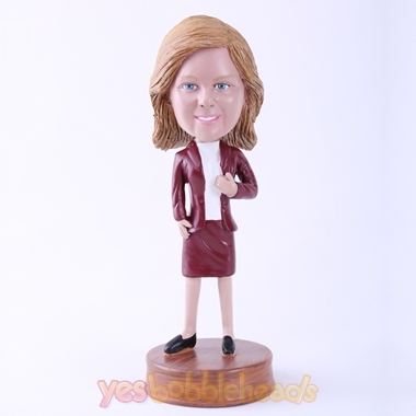 Picture of Custom Bobblehead Doll: Brown Suit Woman