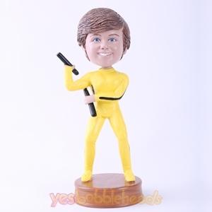 Picture of Custom Bobblehead Doll: Bruce Lee Posture Kid
