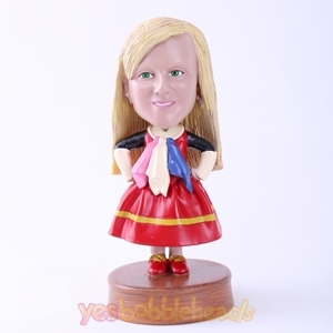Picture of Custom Bobblehead Doll: Cartoon Skirt Girl