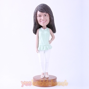 Picture of Custom Bobblehead Doll: Casual Lady Standing