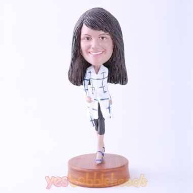 Picture of Custom Bobblehead Doll: Casual Lady Walking