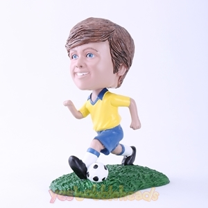 Picture of Custom Bobblehead Doll: Child Playing Soccer