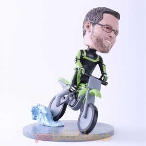 Picture of Custom Bobblehead Doll: Cool Man Riding Motor