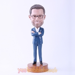 Picture of Custom Bobblehead Doll: Cool Man with Arms Folded