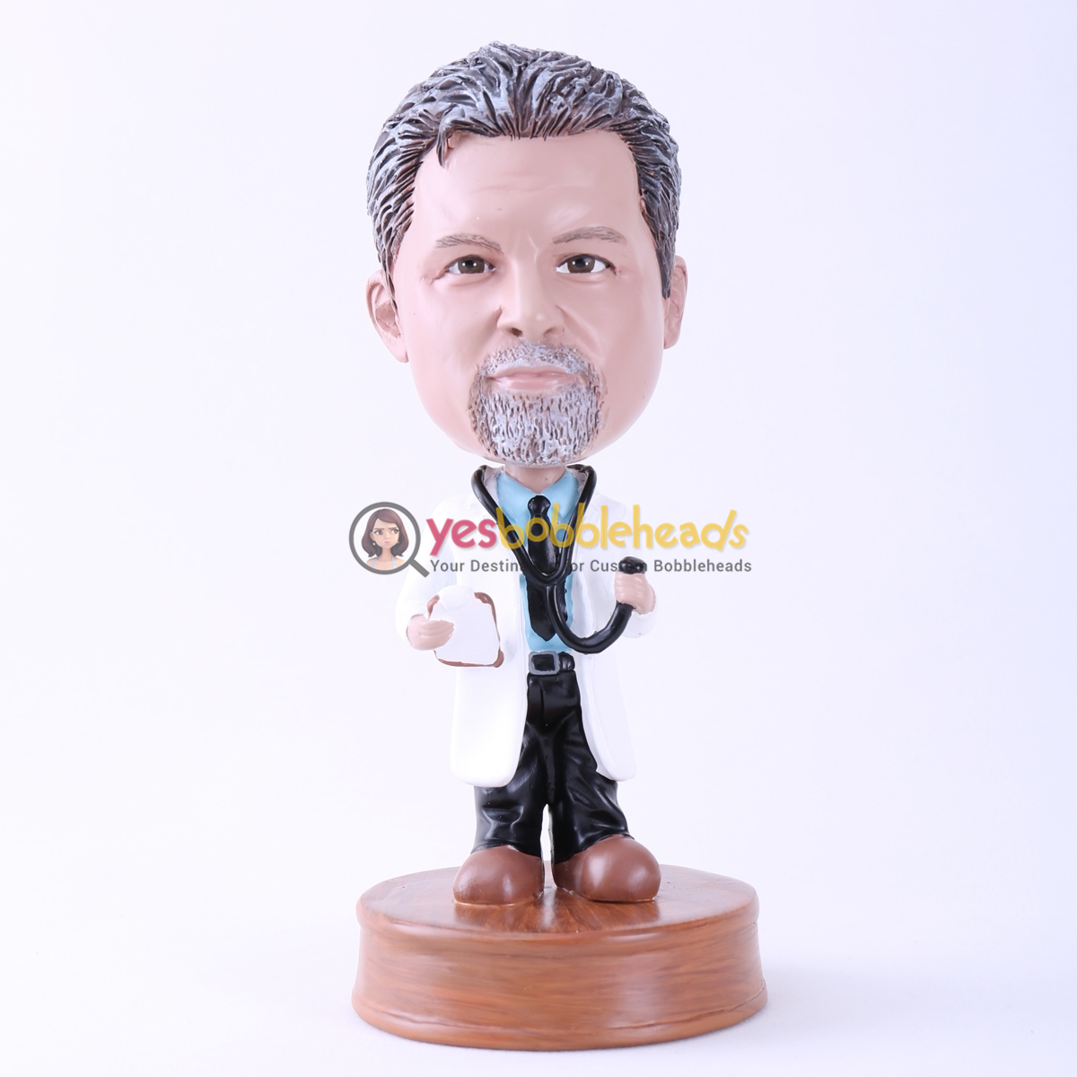 Picture of Custom Bobblehead Doll: Doctor with Stethoscope
