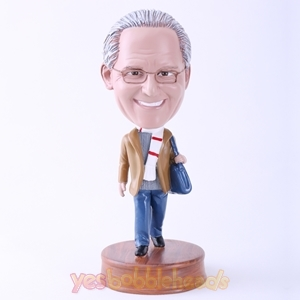 Picture of Custom Bobblehead Doll: Elegant Man with Shoulder Bag