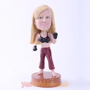 Picture of Custom Bobblehead Doll: Female Boxing