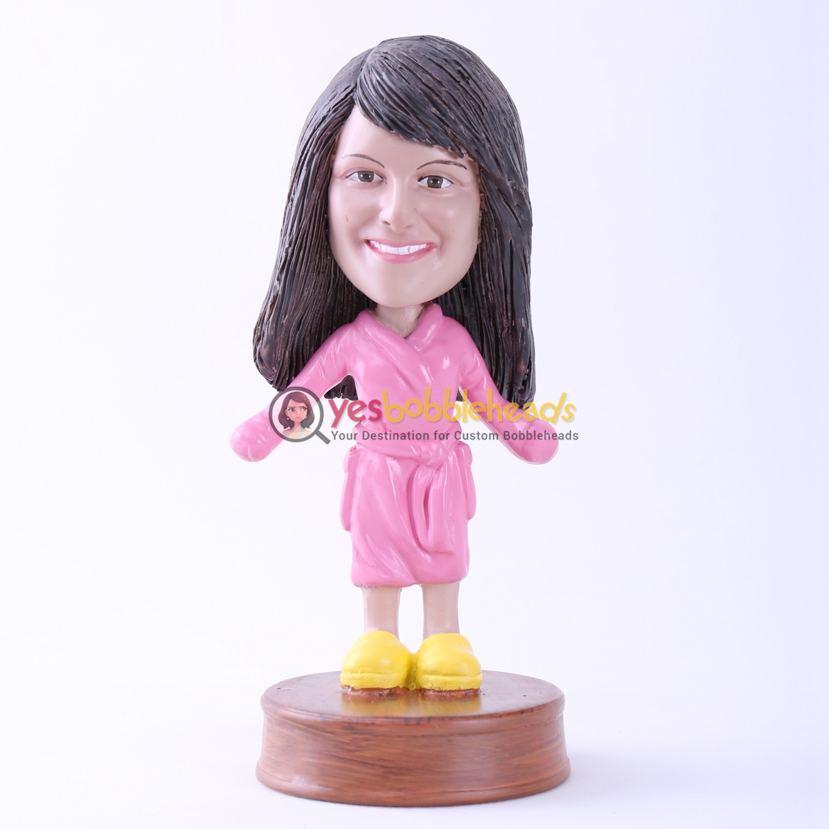 Picture of Custom Bobblehead Doll: Girl with Bathrobes