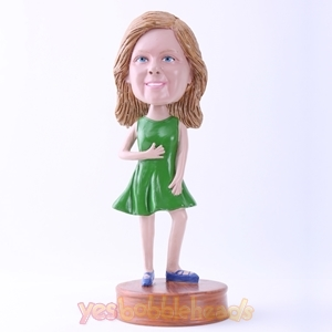 Picture of Custom Bobblehead Doll: Green Dressed Lady