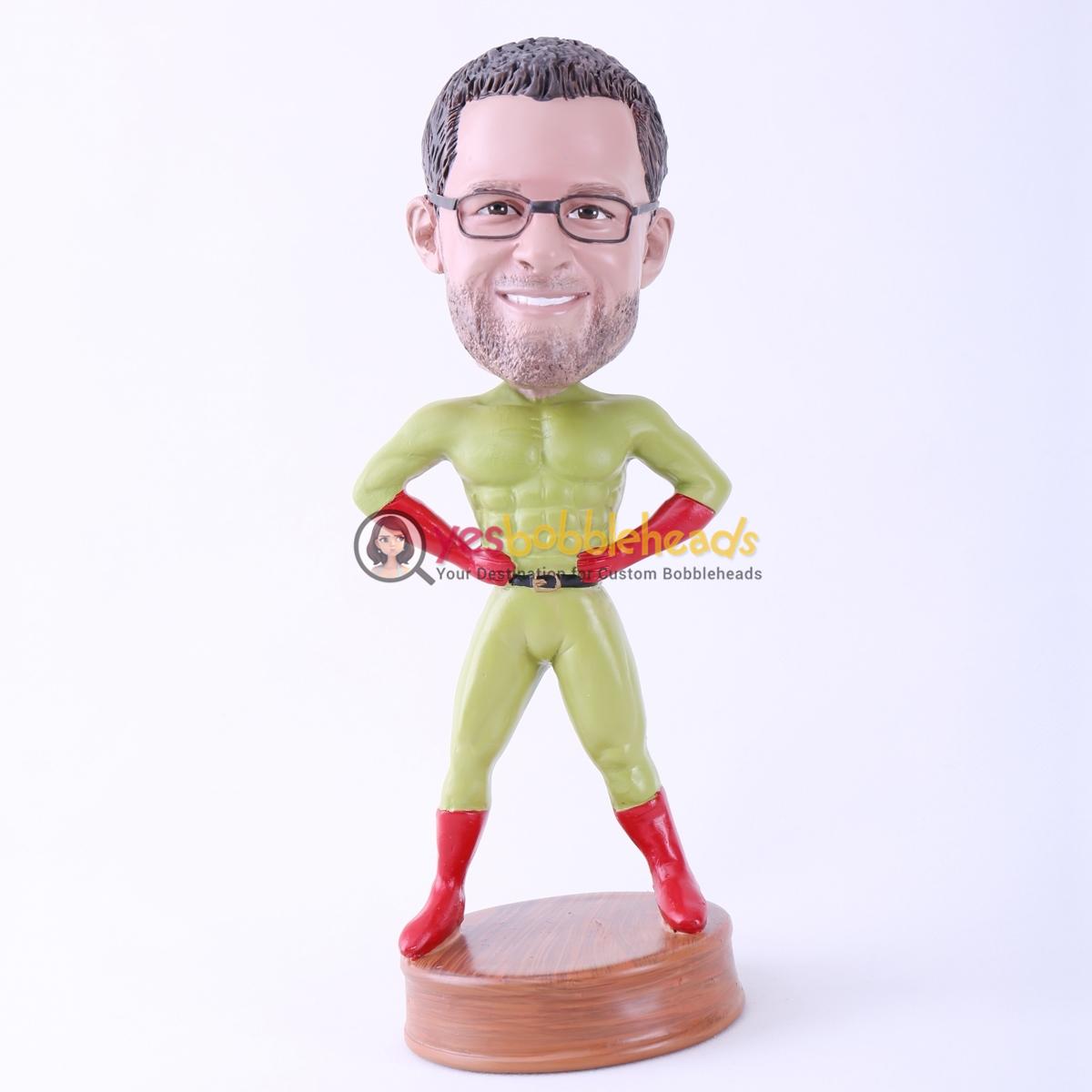 Picture of Custom Bobblehead Doll: Green Skin Superman