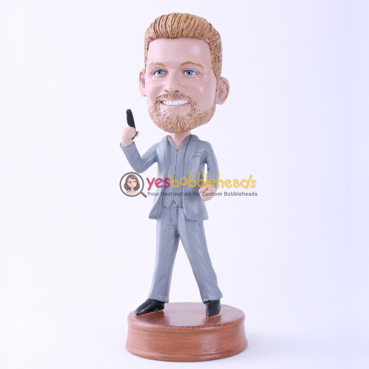 Picture of Custom Bobblehead Doll: James Bond Cosplay