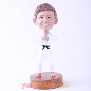 Picture of Custom Bobblehead Doll: Karate Man Hand up Hand