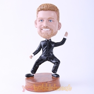 Picture of Custom Bobblehead Doll: Kungfu Fighting Posture Man