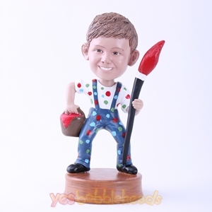 Picture of Custom Bobblehead Doll: Man and Writing Brush