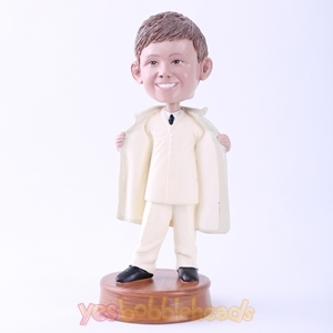 Picture of Custom Bobblehead Doll: Man in Windbreaker