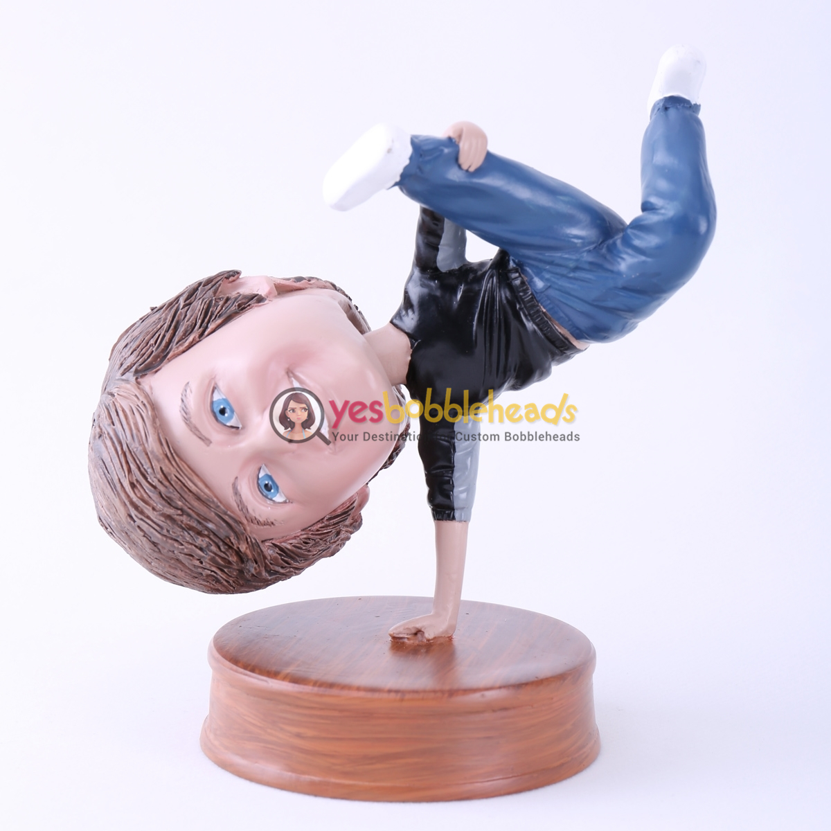 Picture of Custom Bobblehead Doll: Man Single Handstand