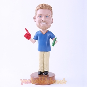 Picture of Custom Bobblehead Doll: Man to Drink