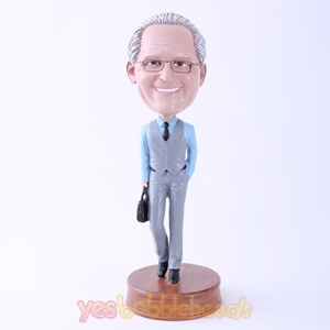 Picture of Custom Bobblehead Doll: Office Man with Bag