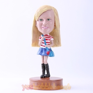 Picture of Custom Bobblehead Doll: Pretty Casual School Girl