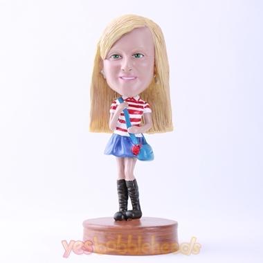 Picture of Custom Bobblehead Doll: Pretty Casual School Girl