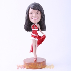 Picture of Custom Bobblehead Doll: Red Dressed Hot Lady