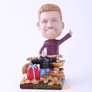 Picture of Custom Bobblehead Doll: Rich Man with Tons of Gold