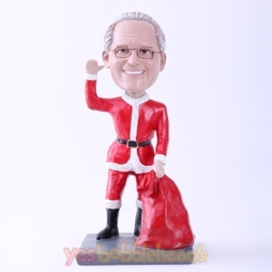"Picture of Custom Bobblehead Doll: Santa Claus Saying Hi (About 9"" Tall)"