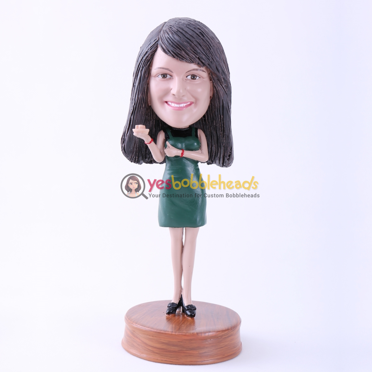 Picture of Custom Bobblehead Doll: Sexy Green Dressed Lady