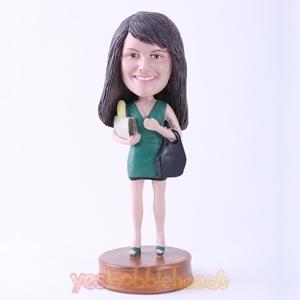 Picture of Custom Bobblehead Doll: Shopping Girl
