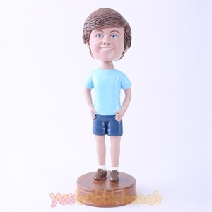 Picture of Custom Bobblehead Doll: Smiling Casual Boy