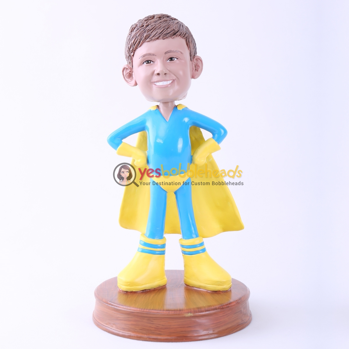 Picture of Custom Bobblehead Doll: Super Child with Yellow Cloak