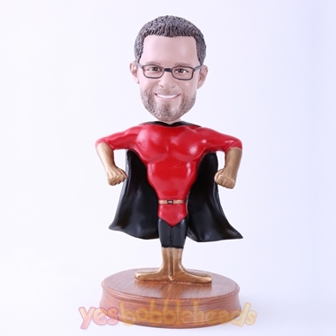 Picture of Custom Bobblehead Doll: Super Dad With Black Cloak