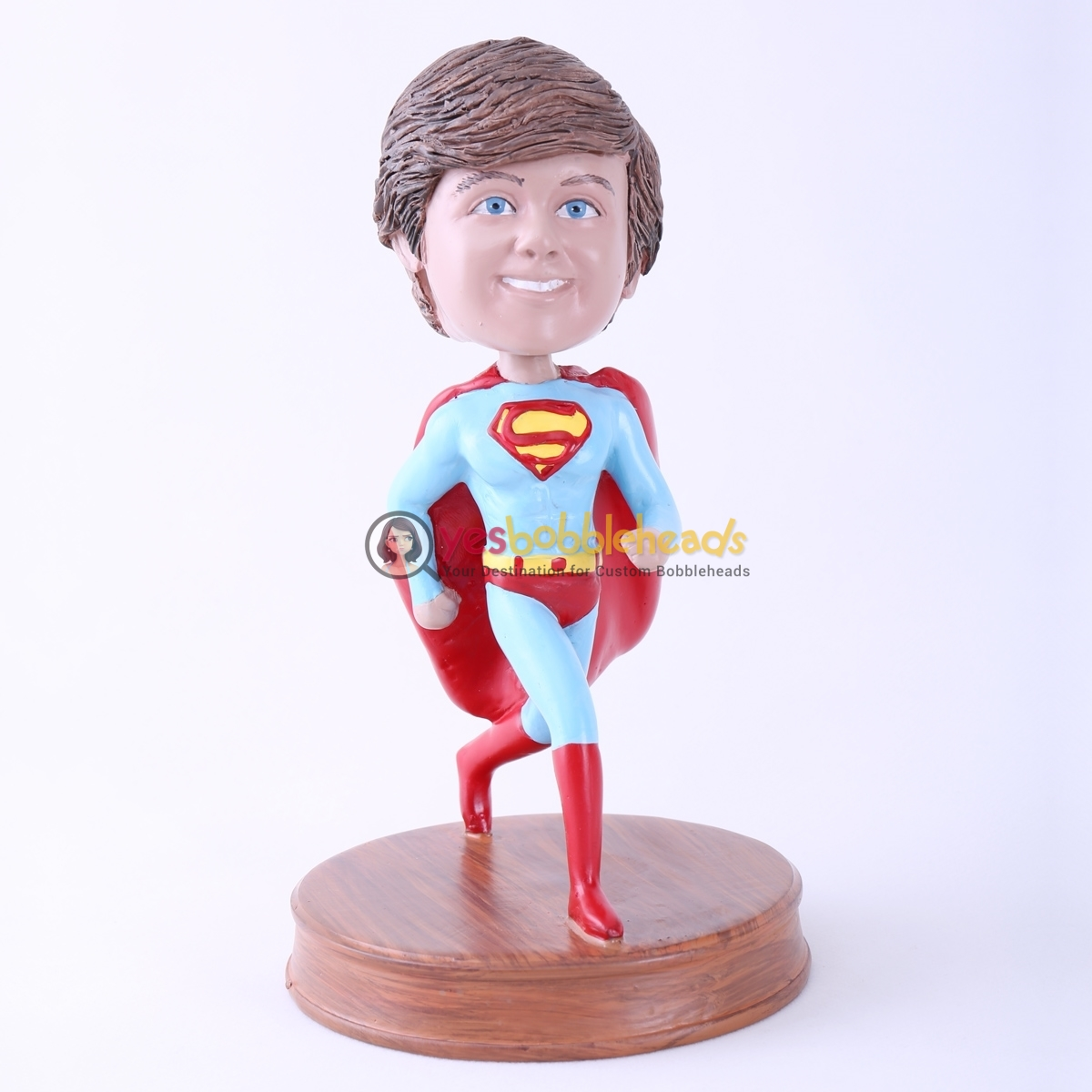 Picture of Custom Bobblehead Doll: Running Boy in Red Cape