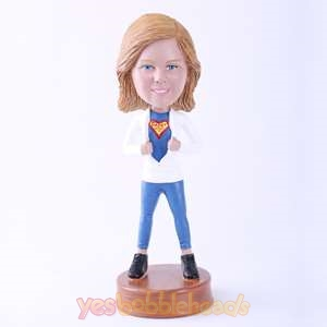 Picture of Custom Bobblehead Doll: Mom Opening Up Chest Showing Braveness