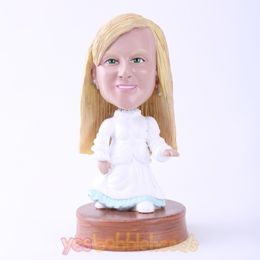Picture of Custom Bobblehead Doll: White Dressed Little Girl