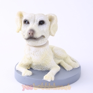 Picture of Custom Bobblehead Doll: White Pet Dog