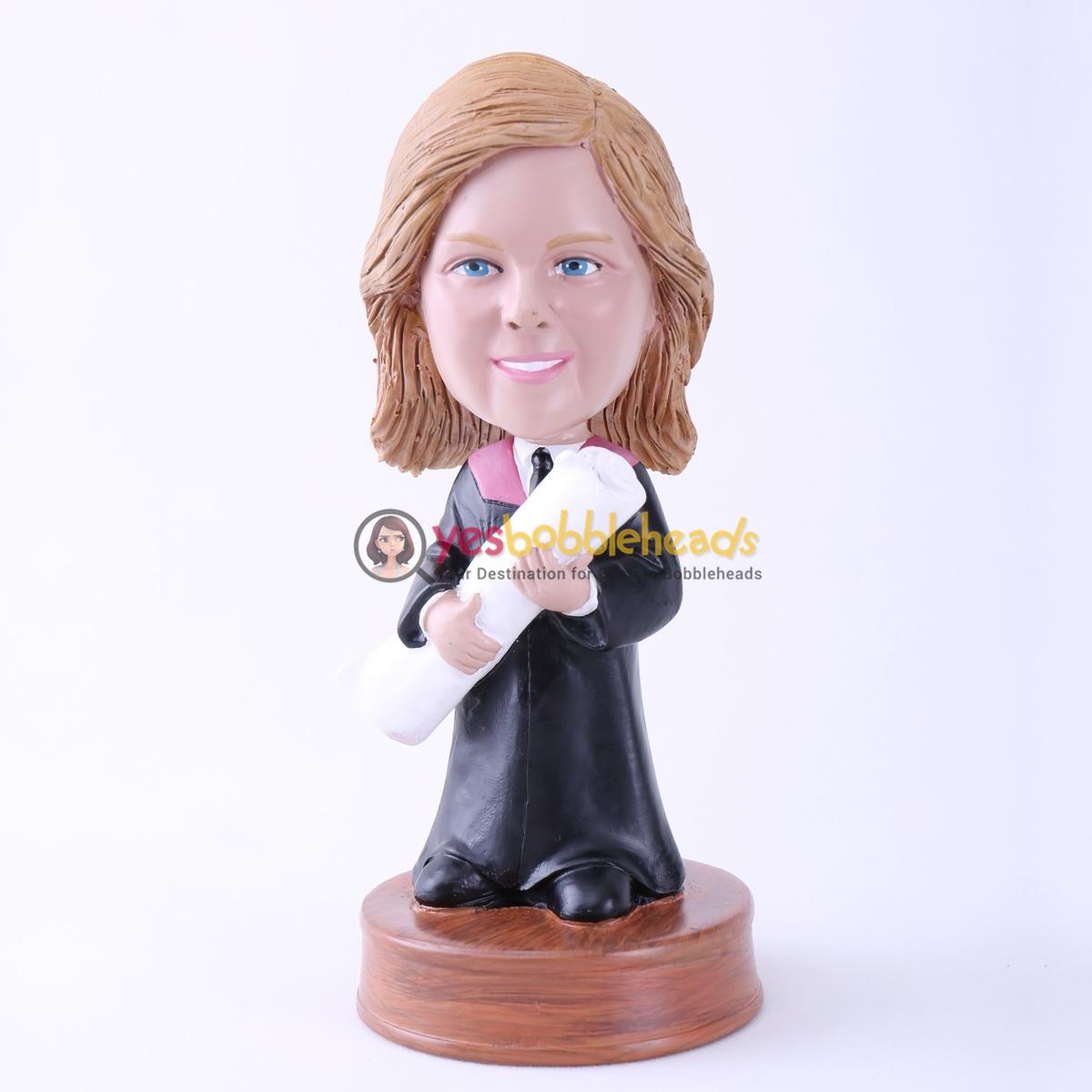 Picture of Custom Bobblehead Doll: Woman Graduation