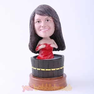 Picture of Custom Bobblehead Doll: Woman in Bath