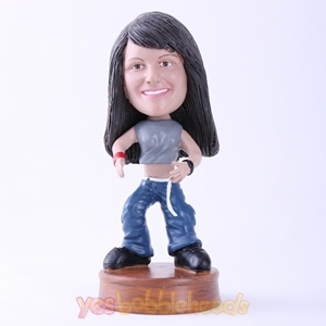 Picture of Custom Bobblehead Doll: Woman Ready to Wrestle