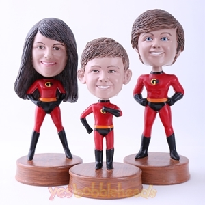 Picture of Custom Bobblehead Doll: The Incredibles Family