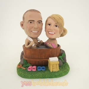 Picture of Custom Bobblehead Doll: Happily Bathing Couple