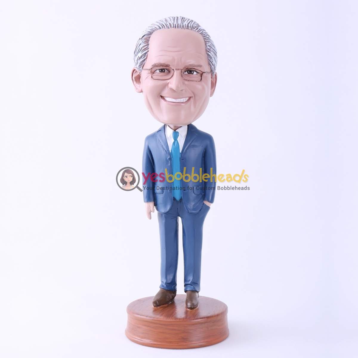 Picture of Custom Bobblehead Doll: Big Boss Wearing Formal Suit