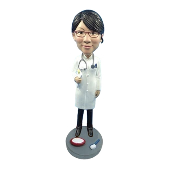 Picture of Custom Bobblehead Doll: Female Dentist