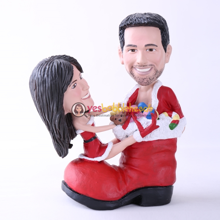 Picture of Custom Bobblehead Doll: Santa Couple On Shoes