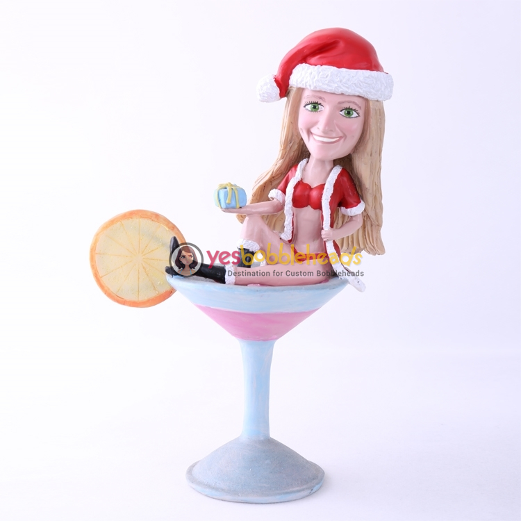 Picture of Custom Bobblehead Doll: Sexy Santa Girl