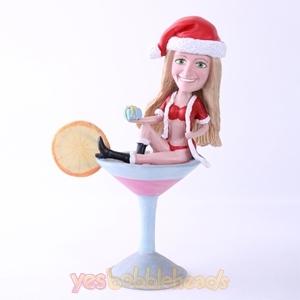 Picture of Custom Bobblehead Doll: Sexy Santa Girl